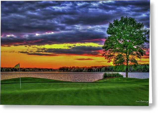 Number 4 The Landing Reynolds Plantation Golf Art Greeting Card by Reid Callaway
