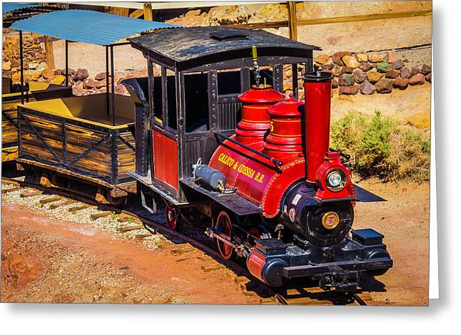Number 5 Calico Train Greeting Card