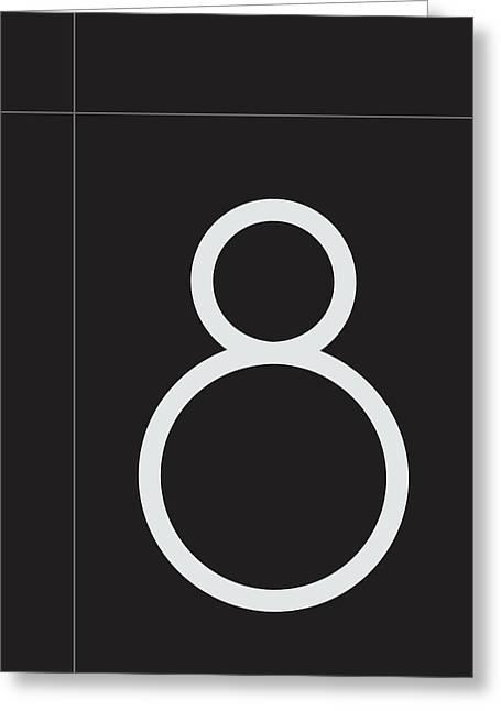 Number Eight Minimalist Print Greeting Card