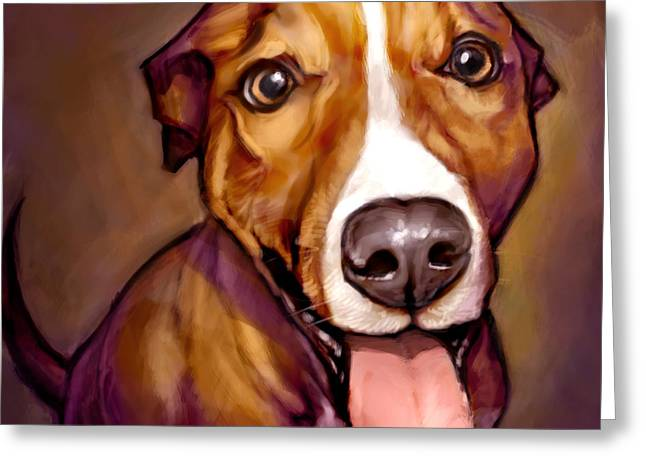 Dog Portraits Greeting Cards - Number One Fan Greeting Card by Sean ODaniels