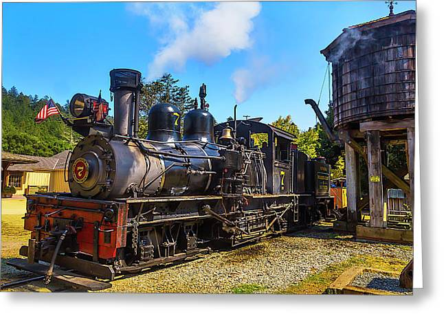 Number Seven Locomotive Greeting Card by Garry Gay