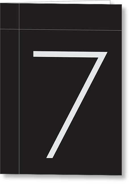 Number Seven Minimalist Print Greeting Card