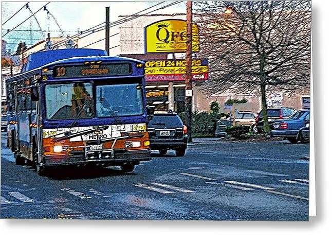 Number Ten Bus Greeting Card
