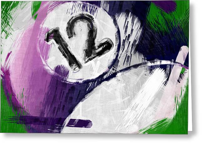 Number Twelve Billiards Ball Abstract Greeting Card