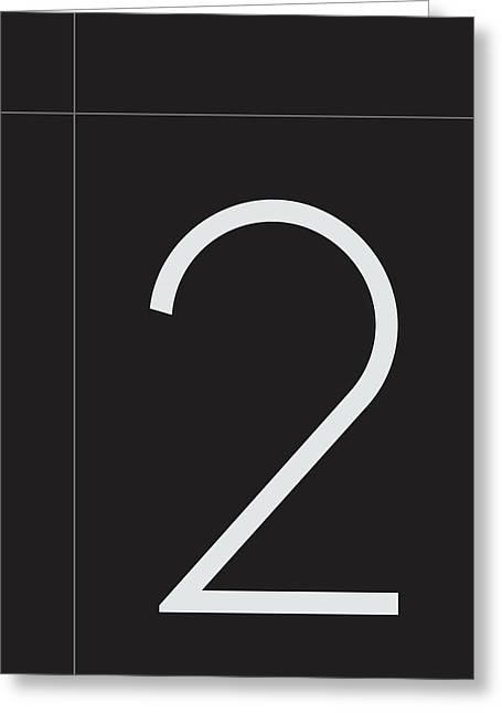 Number Two Minimalist Print Greeting Card