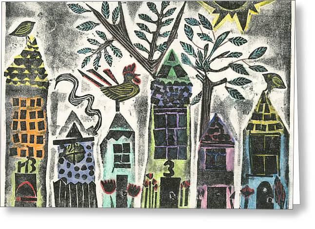 Numbered Houses Greeting Card