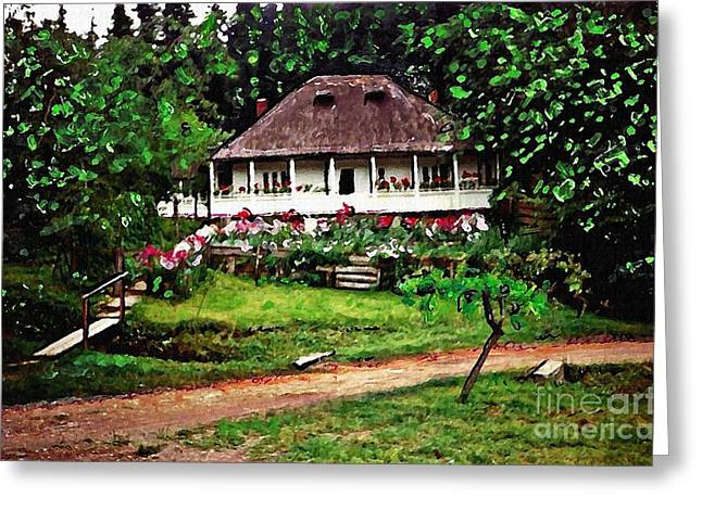 Nuns' House In Agapia Greeting Card by Sarah Loft