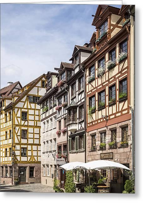 Nuremberg Tanners Lane Greeting Card by Melanie Viola