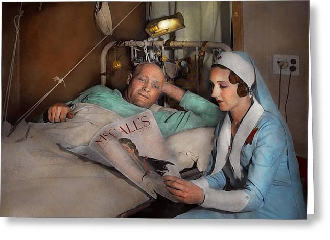 Nurse - Comforting Thoughts 1933 Greeting Card