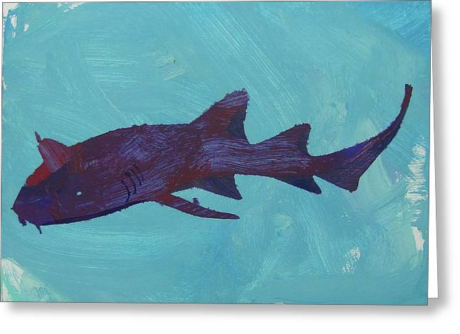 Greeting Card featuring the painting Nurse Shark by Candace Shrope