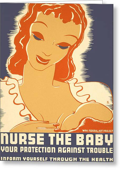Nurse The Baby Greeting Card
