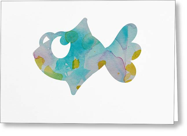 Nursery Fish Print Greeting Card by Nursery Art