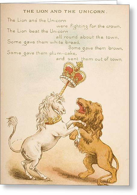 Nursery Rhyme And Illustration Of The Greeting Card by Vintage Design Pics