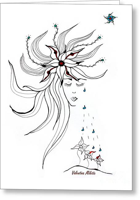 Nurturing You - Art By Valentina Miletic Greeting Card