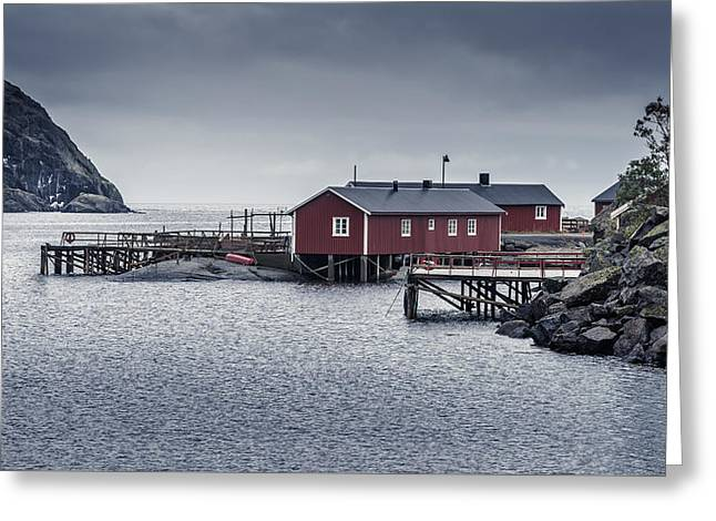 Greeting Card featuring the photograph Nusfjord Rorbu by James Billings