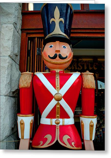 Greeting Card featuring the photograph Nutcracker Protector by LeeAnn McLaneGoetz McLaneGoetzStudioLLCcom