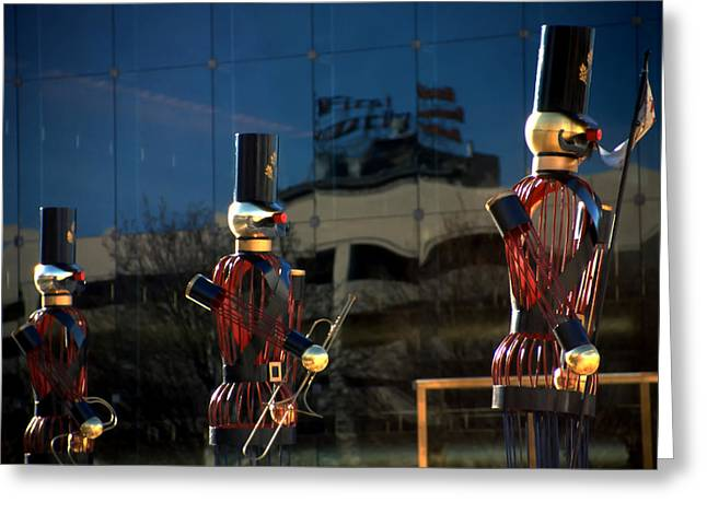 Nutcracker Soldiers 2 Greeting Card by Steve Ohlsen