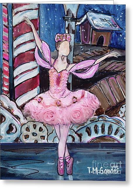 Greeting Card featuring the painting Nutcracker Sugar Plum Fairy by TM Gand