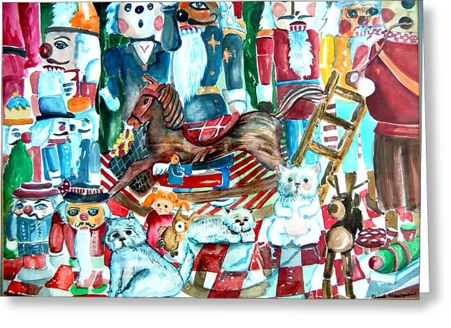 Nutcracker Suite Greeting Card by Mindy Newman
