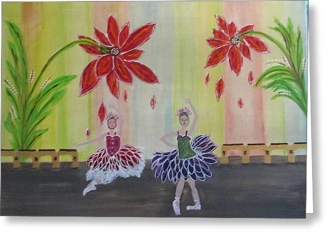 Nutcrackers Waltz Of The Flowers Greeting Card