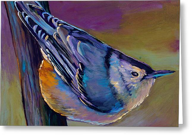 Nuthatch Greeting Card by Johnathan Harris