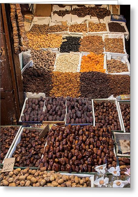 Nuts With Dates And Dried Fruit Greeting Card by Panoramic Images