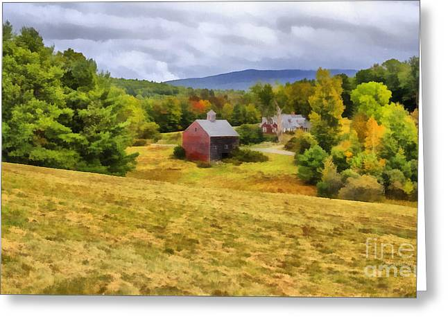 Nutt Farm Etna Hanover New Hampshire Greeting Card by Edward Fielding