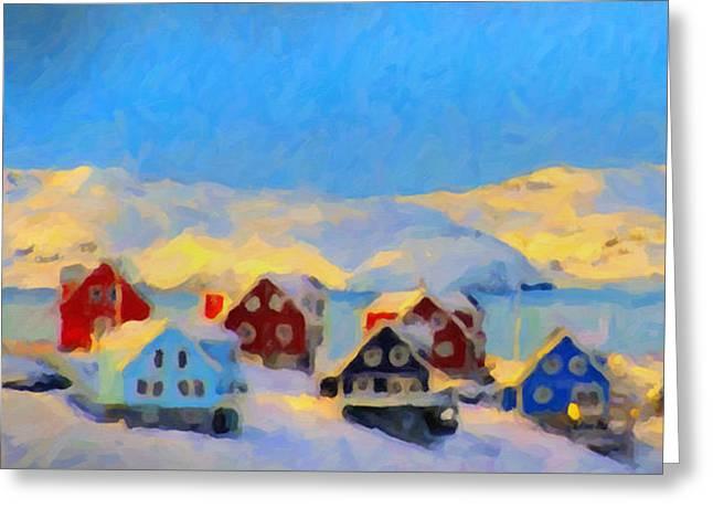 Nuuk, Greenland Greeting Card by Chris Armytage