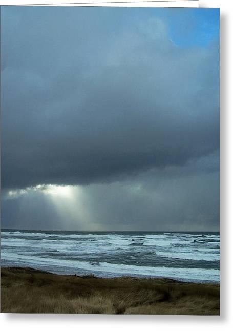 N.w. Beach Rays Greeting Card