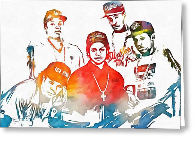 Nwa Color Tribute Greeting Card by Dan Sproul