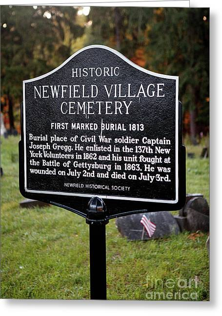 Ny-004 Historic Newfield Village Cemetery Greeting Card by Jason O Watson