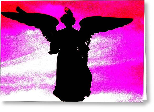 Ny Angel Greeting Card by Daniele Smith