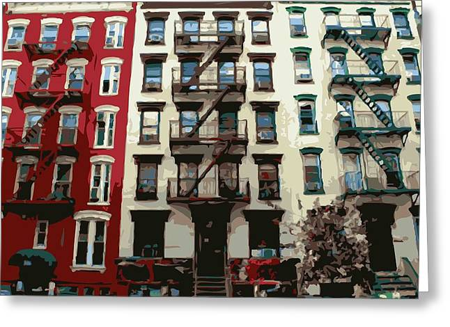 Nyc Apartment Color 16 Greeting Card by Scott Kelley