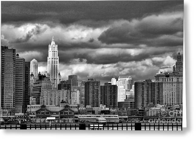 Nyc Blk N Wht  Greeting Card by Chuck Kuhn