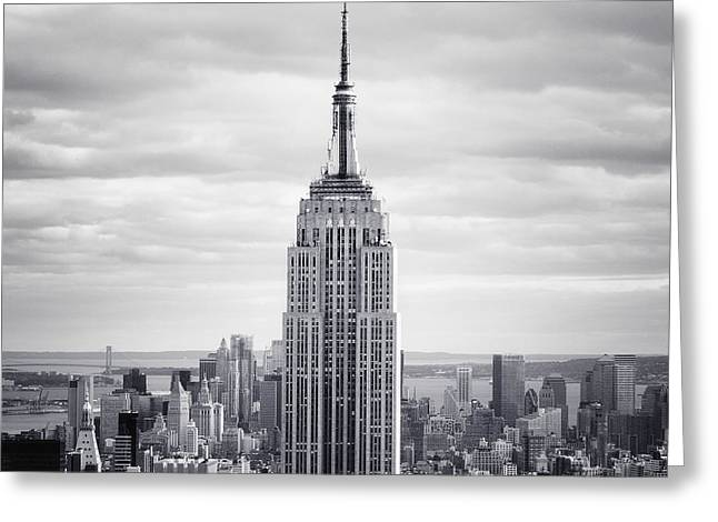 New York New York Greeting Cards - NYC Empire Greeting Card by Nina Papiorek