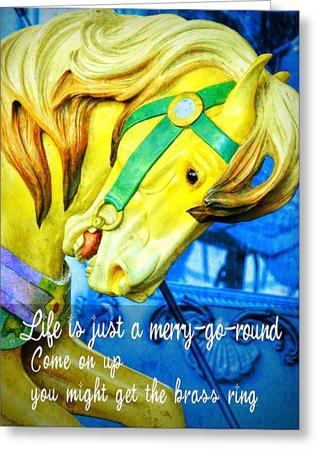 Nyc Golden Steed Quote Greeting Card by JAMART Photography
