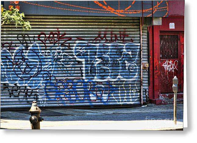 Nyc Graffiti Greeting Card by Chuck Kuhn