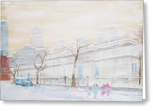 Nyc In Snow Greeting Card