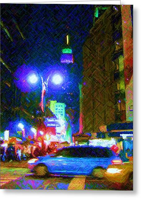 Greeting Card featuring the photograph Nyc In Tie Dye by Susan Carella