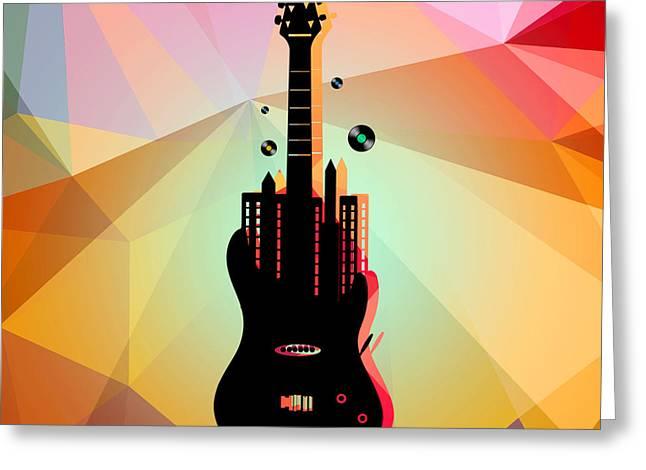 Nyc Music  Greeting Card by Mark Ashkenazi