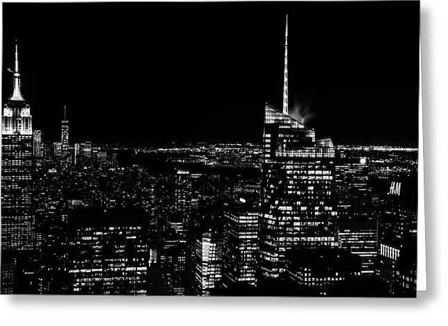 Greeting Card featuring the photograph Nyc Nights by Rand