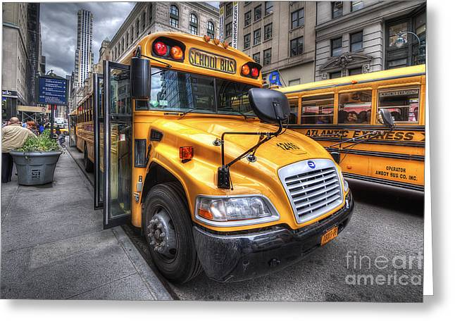 Nyc School Bus Greeting Card