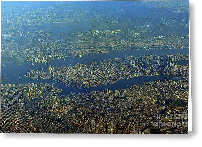 NYC Greeting Card by Skip Willits