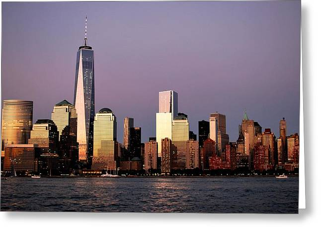 Nyc Skyline At Dusk Greeting Card by Matt Harang