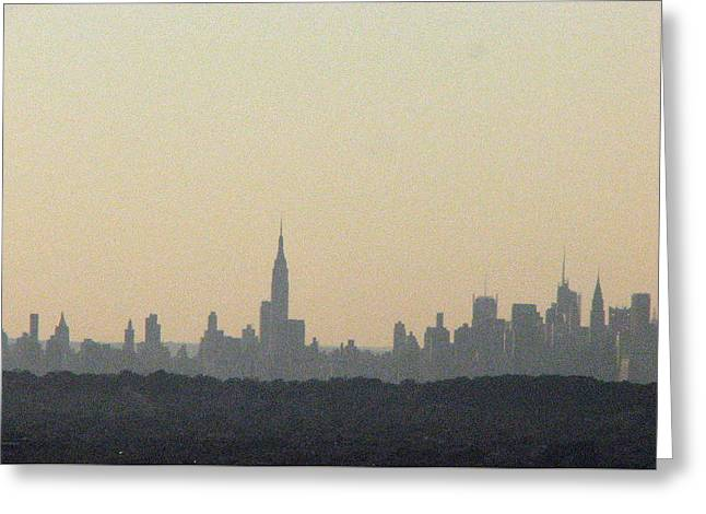 Nyc Skyline At Sunset Greeting Card