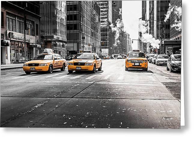 Nyc Taxi Greeting Card