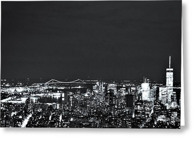 Nyc The City That Never Sleeps Greeting Card by Rick Grossman