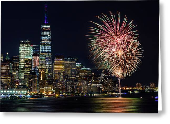 Greeting Card featuring the photograph Nyc World Trade Center Pride by Susan Candelario