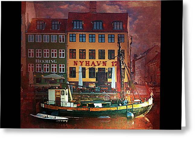 Greeting Card featuring the photograph Nyhavn 17 by Jeff Burgess