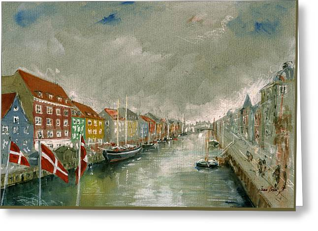 Nyhavn Copenhagen Greeting Card